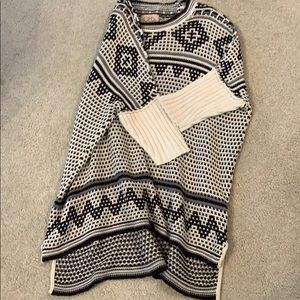 Chaser black and white sweater